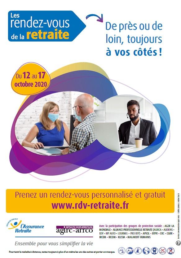 6ème rendez-vous de la retraite du 12 au 17 octobre 2020 organisée par l'Agirc-Arrco et l'Assurance retraite